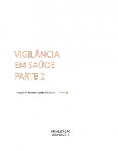 Capa de Livro: Vigilância em Saúde: Parte 2
