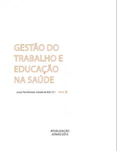 Capa de Livro: Gestão do Trabalho e Educação na Saúde