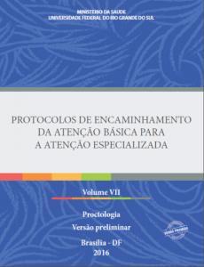 Capa de Livro: Protocolos de Encaminhamento da Atenção Básica para a Atenção Especializada: Proctologia