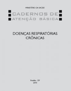Capa de Livro: Cadernos de Atenção Básica, n. 25 – Doenças Respiratórias Crônicas