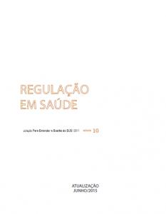 Capa de Livro: Regulação em Saúde