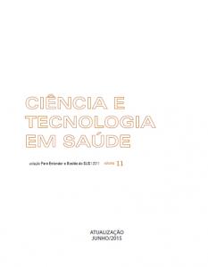 Capa de Livro: Ciência e Tecnologia em Saúde