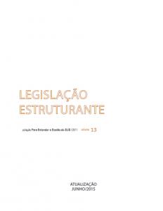 Capa de Livro: Legislação Estruturante