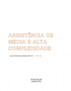Capa de Livro: Assistência de Media e Alta Complexidade