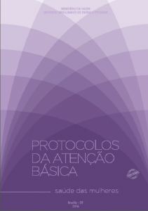 Capa de Livro: Protocolos da Atenção Básica: Saúde das Mulheres