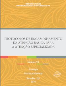 Capa de Livro: Protocolos de Encaminhamento da Atenção Básica para a Atenção Especializada: Urologia