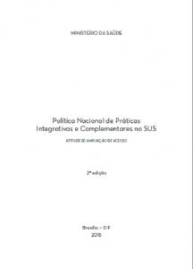 Capa de Livro: Política nacional de práticas integrativas e complementares no SUS : atitude de ampliação de acesso