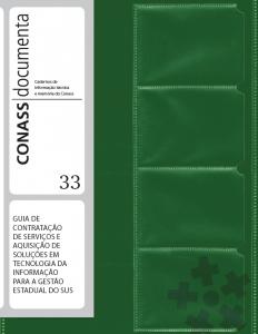 Capa de Livro: Guia de contratação de serviços e aquisição de Soluções em Tecnologia da Informação para a Gestão Estadual do SUS